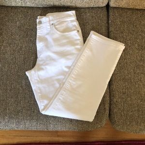 Madewell straight crop jeans in white